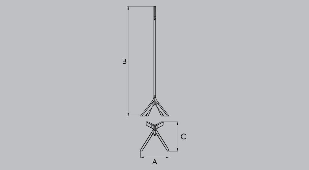 Подставка для огнетушителя LEG 85203